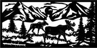 Walking Moose Railing