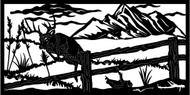 Deer Jumping Fence Railing