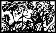 Flower Tree Art Railing