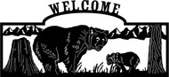Bear & Cub Welcome Sign