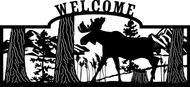 Walking Moose Welcome Sign