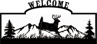 Welcome sign, Deer Jumping