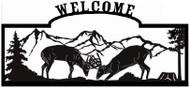 Welcome sign, Deer Fighting