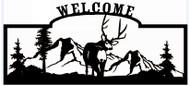 Welcome sign, Deer Looking Back 2