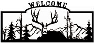 Welcome sign,  Deer Sitting