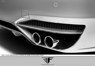 BMW 5 Series 4DR AF-3 Aero Function Rear Add On Body Kit Bumper 2011-2015