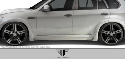 BMW X5M AF-1 Aero Function Side Skirts for Wide Body Kit 2010-2013