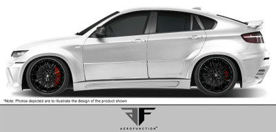 BMW X6 AF-3 Aero Function Side Skirts for Wide Body Kit 2008-2014