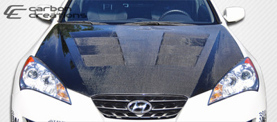 Fits Hyundai Genesis 2DR Hot Wheels Carbon Fiber Body Kit- Hood 2010-2012