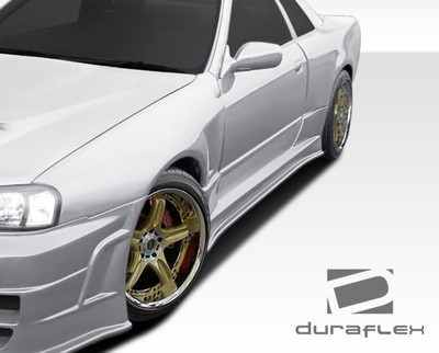 Fits Nissan Skyline 2DR R324 Conversion Duraflex Side Skirts Body Kit 1989-1994