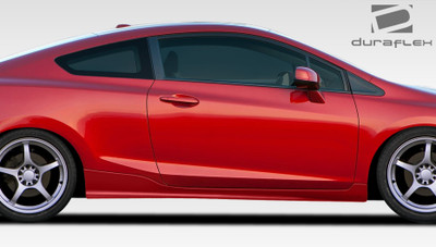 Honda Civic 2DR H-Sport Duraflex Side Skirts Body Kit 2012-2015