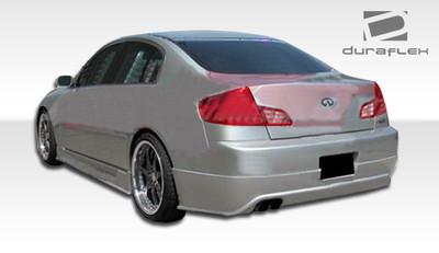 Infiniti G Sedan 4DR Sigma Duraflex Rear Body Kit Bumper 2003-2004