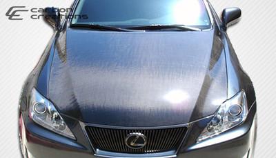 Lexus IS 4DR OEM Carbon Fiber Creations Body Kit- Hood 2006-2013