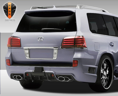 Lexus LX Eros Version 1 Duraflex Rear Body Kit Bumper 2008-2015