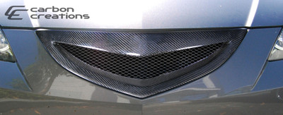 Mazda 3 4DR Open Mouth Carbon Fiber Creations Grille 2007-2009