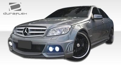 Mercedes C Class 4DR W-1 Duraflex Full 6 Pcs Body Kit 2008-2011