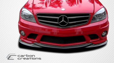 Mercedes C63 L-Sport Carbon Fiber Creations Front Bumper Lip Body Kit 2008-2011