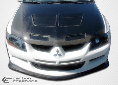 Mitsubishi Evolution Demon Carbon Fiber Front Bumper Lip Body Kit 2003-2005