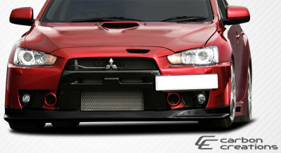Mitsubishi Evolution VR-S Carbon Fiber Front Bumper Lip Body Kit 2008-2014