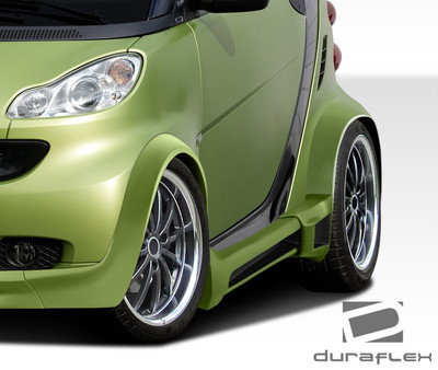 Smart ForTwo GT300 Duraflex Side Skirts for Wide Body Kit 2008-2015