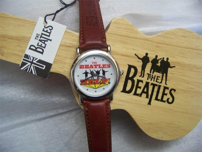 The Beatles Help Watch in Wooden Guitar display case B00101