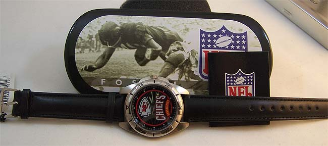 Kansas City Chiefs Fossil Watch Vintage Collectors Mens 96