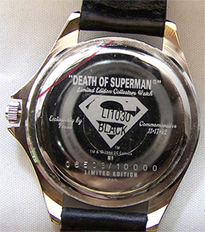 Death of superman watch fossil dc comics commemorative li1030 new fossil death of superman commemorative watch set includes superman watch in a solid plastic superman shield logo display case includes a superman lapel pin freerunsca Choice Image