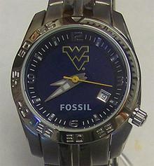West Virginia Mountaineers Fossil Watch Womens Sports Logo Li2922