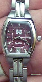Mississippi State Womens Fossil 3 Hand Watch Li3028