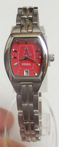 Anaheim LA Angels Fossil Watch Womens Three Hand Date MLB1043