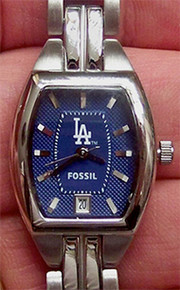 LA Los Angeles Dodgers Fossil Watch womens Three Hand Date MLB1011