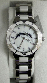 NFL Chargers Watch Womens Game Time Pearl Watch MOP New