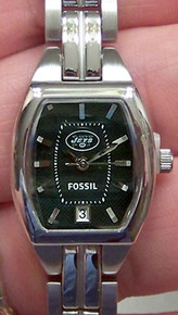 New York Jets Fossil Watch Womens Cushion Three Hand Date NFL1192