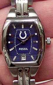 Indianpolis Colts Fossil Ladies Womens Three Hand Date Watch NFL1187