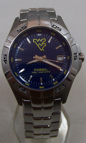 West Virginia Mountaineers Fossil watch Mens Three Hand Date Li2772