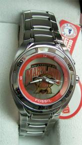 Maryland Terrapins Fossil Watch Kaleido Flashing logo Mens Li2370