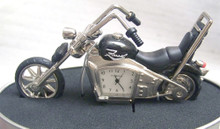 Fossil Motorcycle Desk Clock. Novelty LE  Collectible Chopper Style