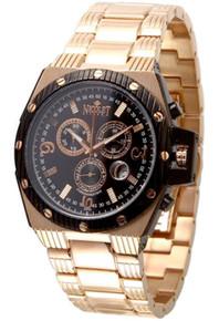 Nicolet Swiss Movement Chronomatrix Chrongraph Watch Mens Rose Gold