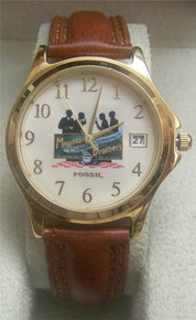 Fossil Watch Mountanos Bros. Brothers Coffee promo Mens Wristwatch
