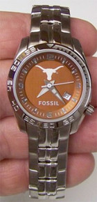 Texas Longhorns Fossil Watch Womens Sports logo Wristwatch Li2782
