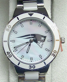 New England Patriots Watch Game Time Gametime MOP Pearl  Womens