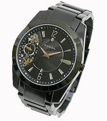 Fossil Mens Twist Watch ME1001 Black with Quartz plus Rotor