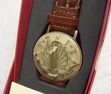 Fossil Sun dial Watch SD-7629 Brown Braided Band Sundial