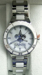 New Orleans Saints Watch Ladies Game Time MOP Pearl Womens NFL-PEA-NO