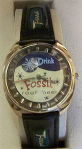 Fossil Vintage Watch Root Beer, Classic Novelty wristwatch JR-7579