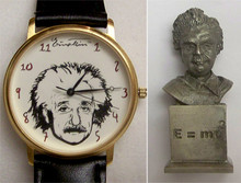 Albert Einstein Fossil Watch set Lmt. Ed. with Bust of Einstein