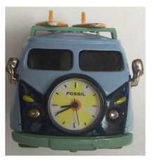 Fossil Surf Van Desk Clock Surfer Peace Van with Surf Boards
