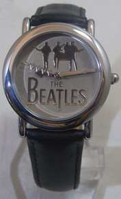 The Beatles silver Logo Watch in Wooden Guitar display case B00110