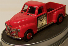 Fossil Red Chevy Truck Desk Clock 1954 Chevy Novelty  Collectible