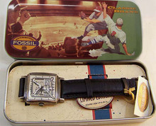 Fossil Baseball Player Watch, Vintage Collectible Wristwatch LE-9429